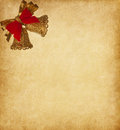Paper background with two bells beige Royalty Free Stock Photos