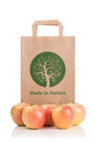 Paper bag with apples Royalty Free Stock Photo