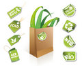 Paper bag - eco idea Royalty Free Stock Image