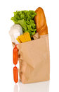 Paper bag with food Stock Photography