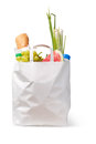 Paper bag with food Royalty Free Stock Photos