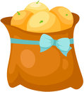 Paper bag of oranges Royalty Free Stock Photography