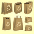 Paper bag with recycle logo vector Royalty Free Stock Image