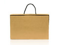 Paper bag white background Royalty Free Stock Images