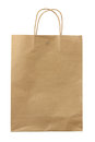 Paper bag on white background Royalty Free Stock Image