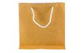 Paper bag on white background brown isolated Stock Image