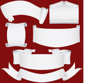 Paper banners, scrolls and diploma set Royalty Free Stock Photo
