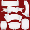 Paper banners and scrolls set (vector, CMYK) Royalty Free Stock Photo