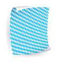 Paper board in bavarian colors Stock Photos