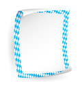 Paper board with frame in bavarian colors Stock Photo