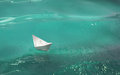 Paper Boat On The Waves Royalty Free Stock Photo