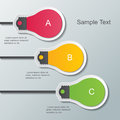 Paper bulb infographic template three light signs on the wall elements Stock Photo