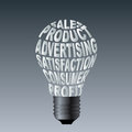 Paper bulb of sales product advertising satisfaction consume profit this image is useful in business Royalty Free Stock Photos