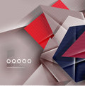 Paper business triangles abstract background for templates technology presentation banner layout Royalty Free Stock Photography