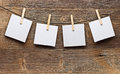 Paper card and clothes peg Royalty Free Stock Photography