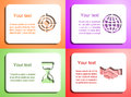 Paper cards vestor this is file of eps format Royalty Free Stock Photography