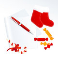 Paper and Christmas gifts Stock Photography
