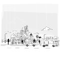Paper City Vector Royalty Free Stock Photography