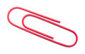 Paper Clip Red Royalty Free Stock Photo