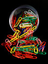 Paper clips of different colors Royalty Free Stock Image