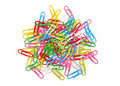 Paper clips isolated on the white background Royalty Free Stock Photo