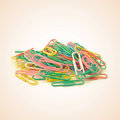 Paper clips old vintage retro style Stock Photos