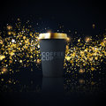 Paper coffee cup mock-up. Royalty Free Stock Photo