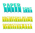 Paper colorful attach creative font. Royalty Free Stock Photos
