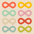 Paper Colorful Infinity Symbols Set Royalty Free Stock Photo