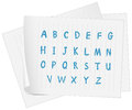 A paper with the complete letters of the alphabet illustration on white background Stock Image
