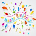 Paper confetti background for birthday easy to edit Royalty Free Stock Images