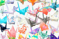 Paper cranes Royalty Free Stock Photography