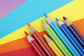 Paper and Crayons Royalty Free Stock Images