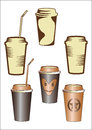 Paper cup with coffee Royalty Free Stock Photos