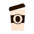 paper cup coffee open cap