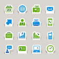 Paper Cut - Office and Business icons Royalty Free Stock Images