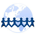 Paper cut people around world Royalty Free Stock Images