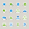 Paper Cut - Social Media Icons Stock Photo
