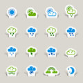 Paper Cut - Weather icons Royalty Free Stock Photography