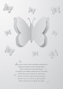 Paper cutout butterflies illustration of abstract background with Royalty Free Stock Photos