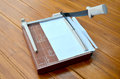 Paper Cutter cutting paper Royalty Free Stock Photo