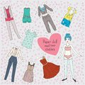 Paper doll and her clothes
