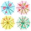 Paper drink umbrellas Royalty Free Stock Photo