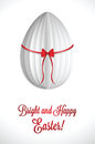 Paper easter egg white stylish greeting for eps Royalty Free Stock Photos