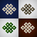 Paper endless celtic knots illustration for the web Royalty Free Stock Image