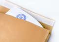Paper envelope stamped Top Secret Royalty Free Stock Photos