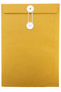 Paper Envelope on white background Stock Images