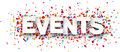 Paper events confetti sign Royalty Free Stock Photo