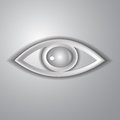 Paper eye on a gray background Royalty Free Stock Image