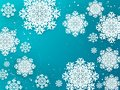 Paper flakes background. Christmas 3D winter poster with snow decoration elements. Vector design template for greeting